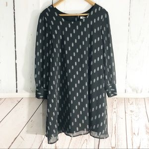 B.B Dakota • Long Sleeve Polka Dot Dress